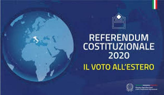 Referendum costituzionale 2020  del 20-21 settembre. Le modalità di voto per i cittadini italiani all'estero