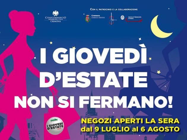 Cremona Giovedì d'estate e shopping serale con musica: buono il numero dei locali che la propongono