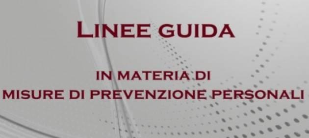 Le nuove linee guida in materia di misure di prevenzione personali