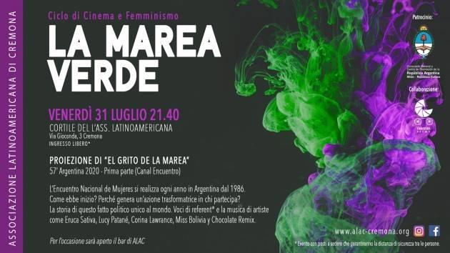 Cremona Ciclo di Cinema e Femminismo: 'La marea verde'