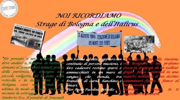 CNDDU Commemorazione delle stragi di Bologna e del Italicus
