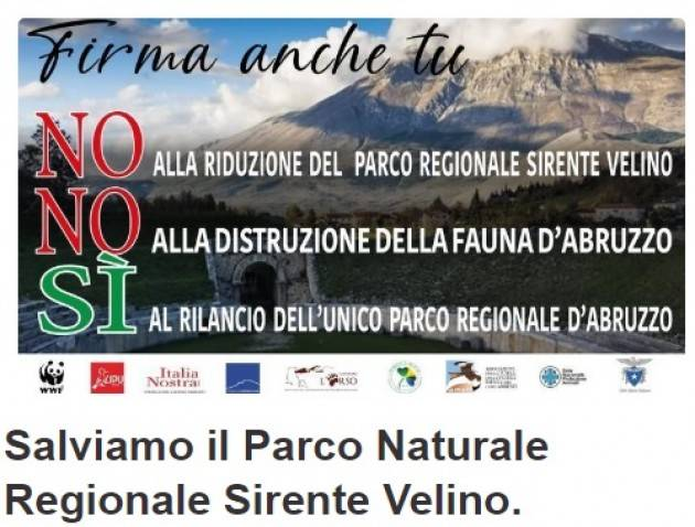 Firma Salviamo Parco Naturale Regionale Sirente Velino d'Abruzzo