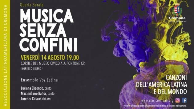 Cremona Quarta Serata: 'Canzoni dell'America Latina e del mondo' il 14 agosto