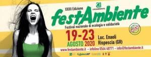 AISE FESTAMBIENTE: DAL 19 AL 23 AGOSTO IL FESTIVAL NAZIONALE DI LEGAMBIENTE