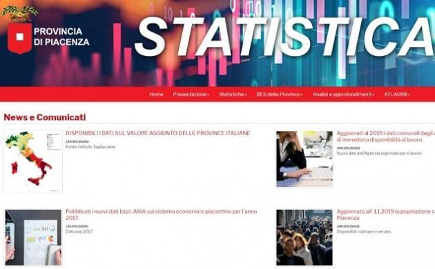 Tech PROVINCIA DI PIACENZA: NUOVA VESTE PER IL PORTALE DELLA STATISTICA