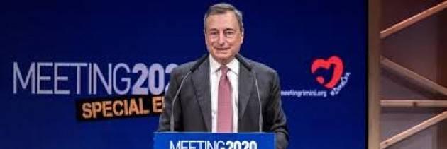 Draghi: ''Futuro dei giovani a rischio. I sussidi finiranno, bisogna dare loro di più''