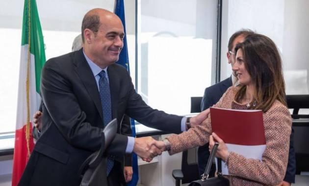 Zingaretti: ''Nessun appoggio a Raggi. Obiettivo è combattere le destre di Salvini''