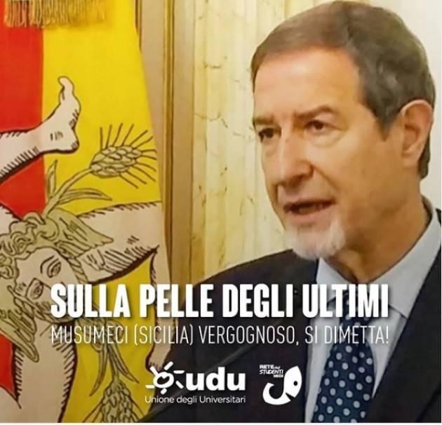 Musumeci firma espulsione migranti dalla Sicilia Rete Studenti : si dimetta !!!