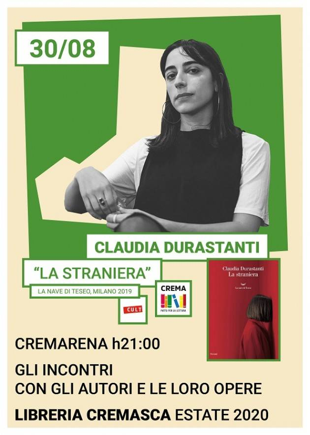 Libreria Cremasca Evento Claudia Durastanti - 30 agosto
