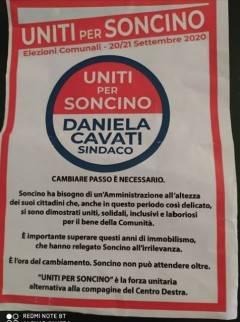 UNITI PER SONCINO Presentata le lista guidata dalla candidata sindaca Daniela Cavati