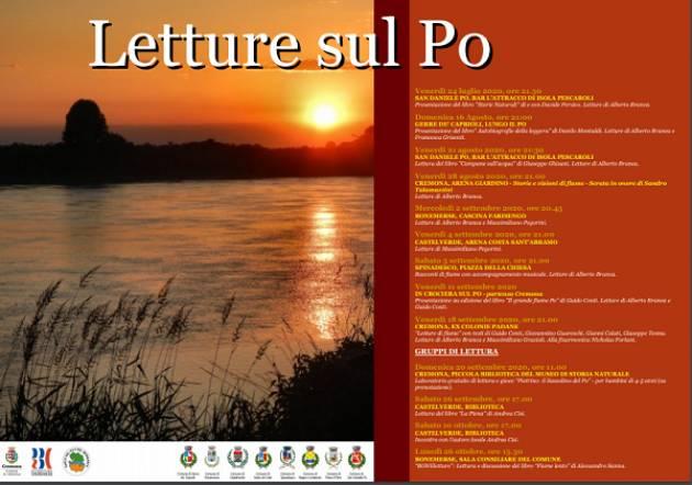 Letture sul Po all'Arena Giardino: venerdì 28 agosto serata dedicata a Sandro Talamazzini