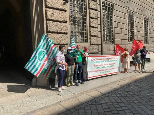 Sabrina Negri (sg Fp-Cgil Cremona) Rinnovo CCNL sanità privata: 'Vergogna [Telefonata]