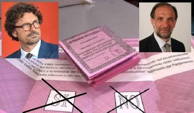 Cremona Referendum Taglio Parlamentari Toninelli (M5S) e Bodini (Art.Uno)  si confrontano Domenica 6 settembre sulle ragioni del SI e del NO