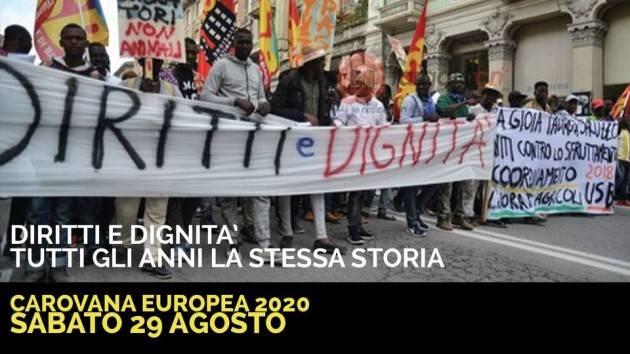 Pianeta Migranti Cremona . Carovana europea migranti 2020