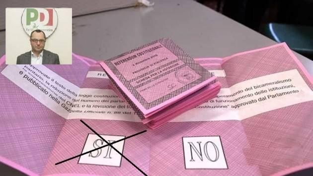 Luciano Pizzetti (PD): Io  voto SI al Referendum Taglio Parlamentari, è questione di convinzione e coerenza [telefonata]
