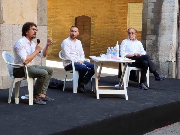 Referendum Taglio Parlamentari Cremona Confronto fra Toninelli (M5S) per il SI  e Bodini (Art.uno)  per il NO (Video G.C.Storti)