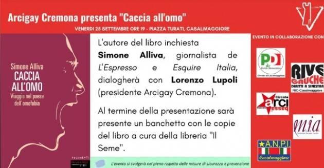 Casalmaggiore Arcigay presenta il libro 'Caccia all'Uomo' di Simone Alliva