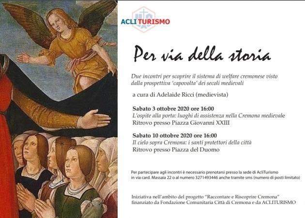 Acli Cremona  organizza due incontri 'Per via della storia'