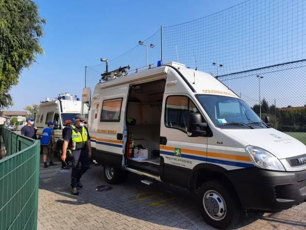 Provincia di Cremona esercitazione della Protezione civile. Effettuati test di comunicazione radio.