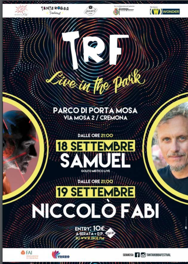 Cremona 18-19 settembre, Samuel (Subsonica) dal vivo per il Tanta Robba Festival Live in the Park.