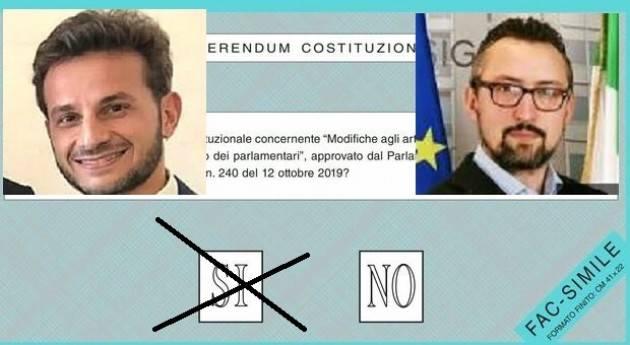 Cremona Taglio Parlamentari Degli Angeli (M5S) e Matteo Piloni (Pd) due SI convinti ma diversi (Video G.C.Storti)