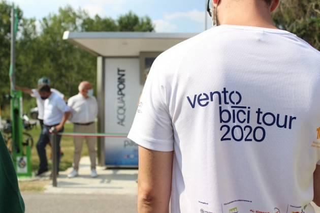 Gerre de' Caprioli, Padania Acque : inaugurata , la prima casa acqua sulla ciclovia VENTO