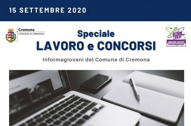 Informa Giovani Cremona SPECIALE LAVORO E CONCORSI del 15 settembre 2020