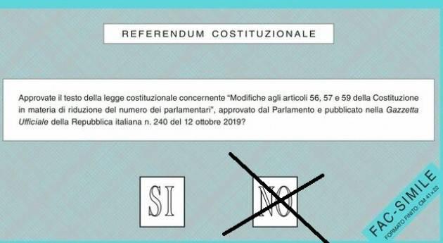 Referendum Taglio Parlamentari APPELLO AL VOTO DI 100 CITTADINE E CITTADINI ATTIVI CREMONESI PER IL NO