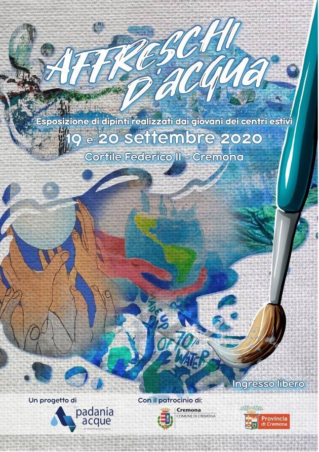 Padania Acque: 'Affreschi d'Acqua' in mostra nel weekend 19 e 20 settembre presso Cortile Federico II a Cremona
