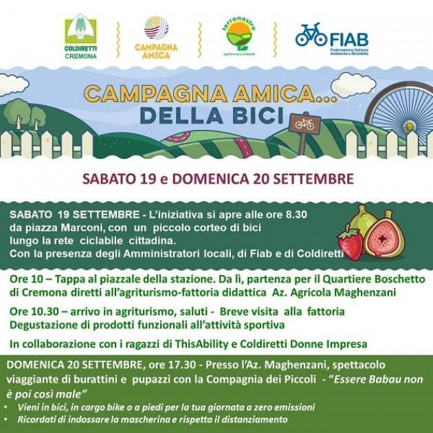 Cremona Coldiretti sabato 19 settembre, nei mercati e negli agriturismi di Campagna Amica
