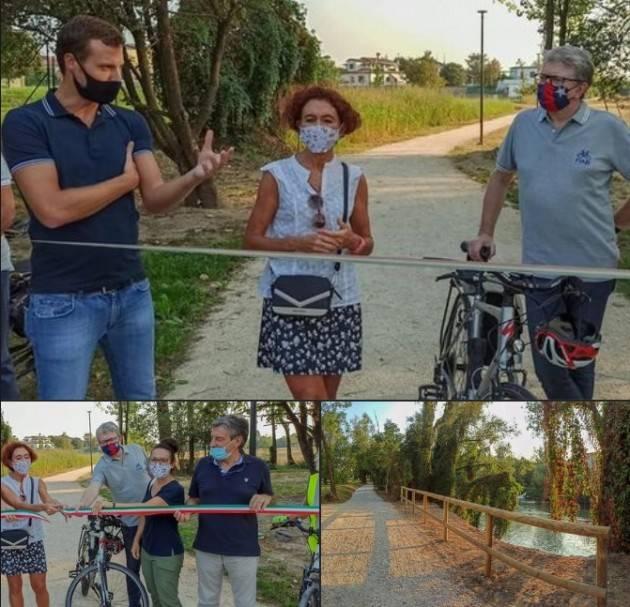 Crema Fabio Bergamaschi Nella settimana della mobilità inaugurata un tratto di #ciclopedonale