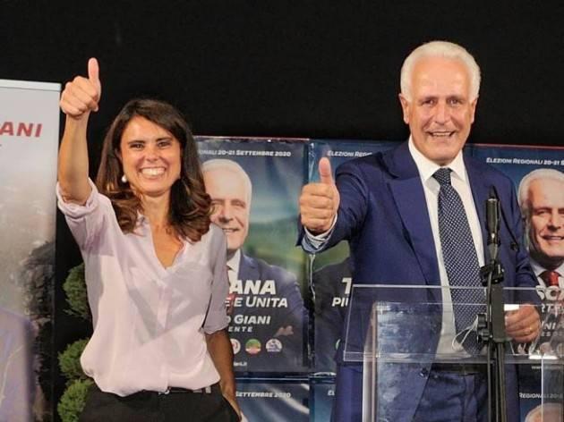 Regionali Toscana 2020, Giani al 48,24%.