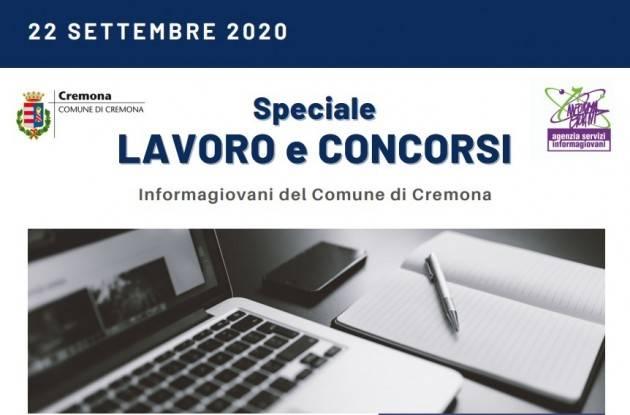 Informa Giovani Cremona SPECIALE LAVORO E CONCORSI del 22 settembre 2020