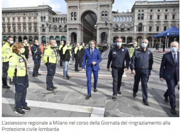 LombNews Il grazie di Milano ai volontari della Protezione civile per lavoro svolto