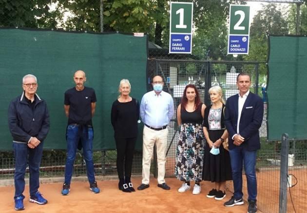 Canottieri Baldesio, intitolati a Dario Ferrari e Carlo Dognazzi i campi da tennis centrali