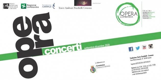 Teatro Ponchielli INAGURA CON DER MESSIAS MERCOLEDI' 30 SETTEMBRE Al via la Stagione d'Opera e Concerti 2020