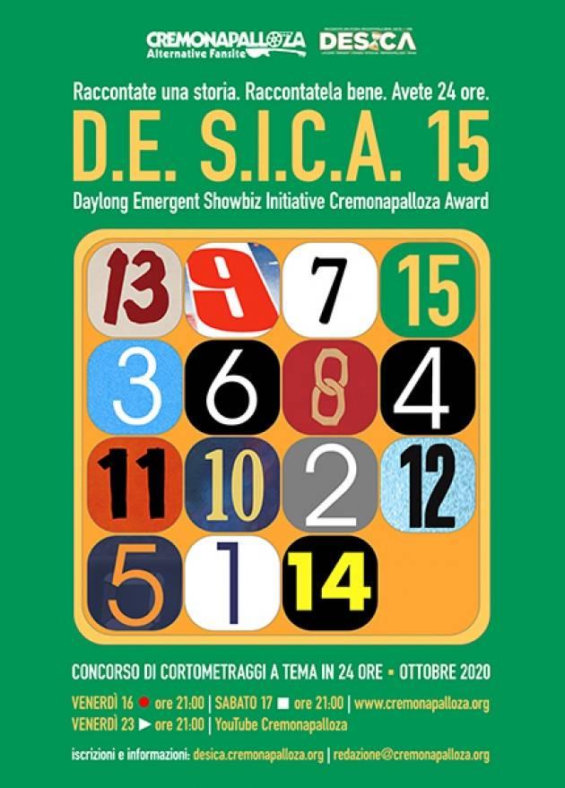 Arriva il concorso D.E. S.I.C.A. 15 di Cremonapalloza, 24 ore per girare un corto