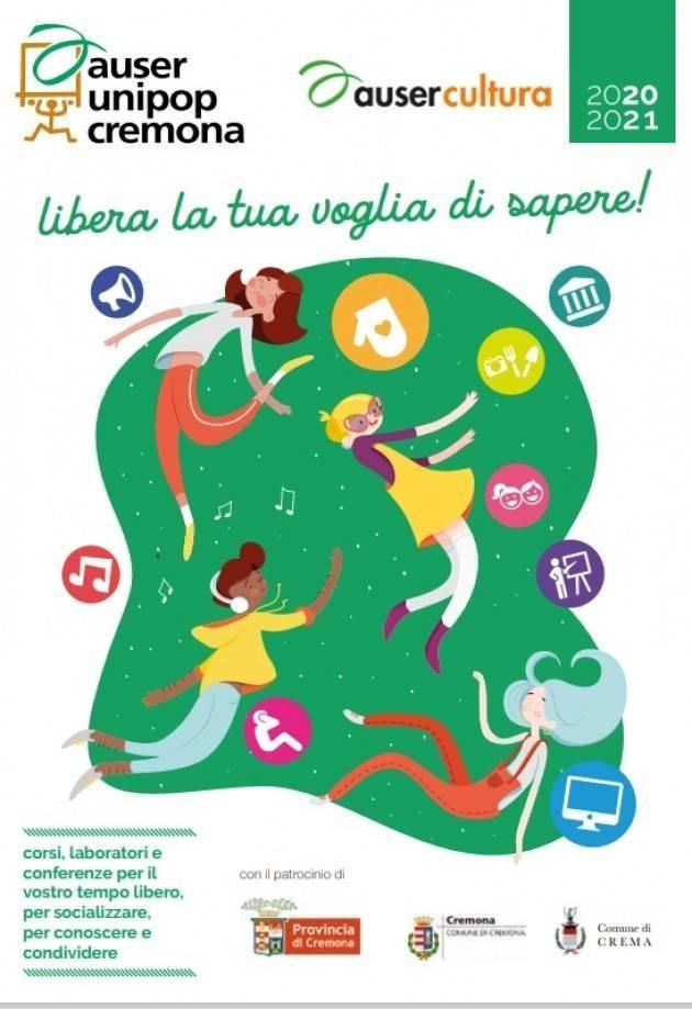All'Auser Unipop Cremona Ripartono i corsi del nuovo anno accademico 2020/21