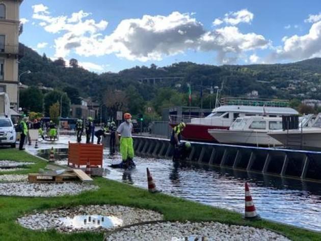 Esonda il lago di Como, chiusa una corsia sul lungolago