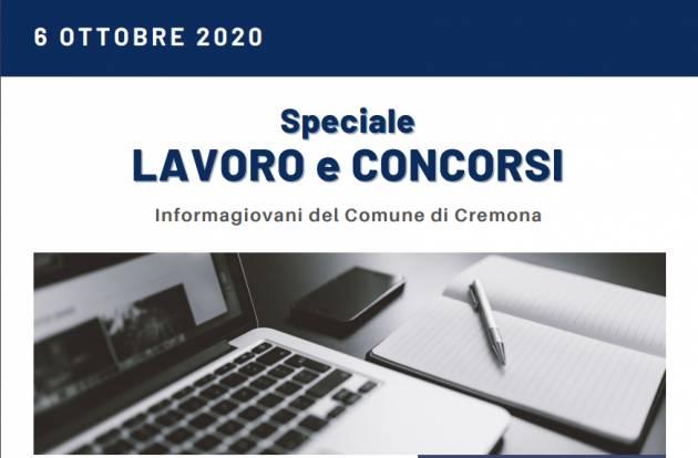 Informa Giovani Cremona SPECIALE LAVORO E CONCORSI del 6 ottobre 2020