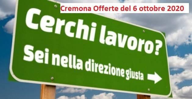 Attive 113 Offerte di lavoro CpI Provincia Cremona e altre opportunità di lavoro [6 ottobre 2020]