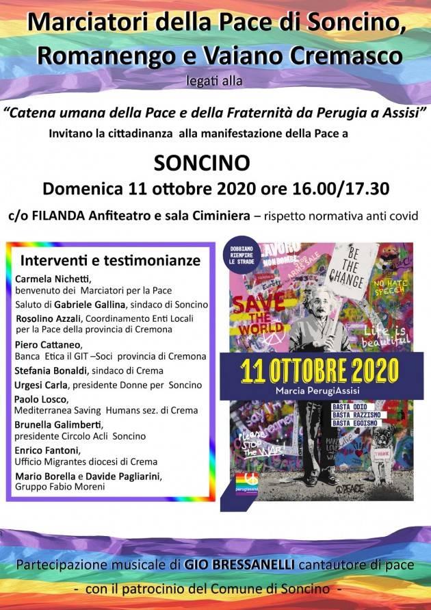 A Soncino  Manifestazione della Pace Domenica 11 ottobre