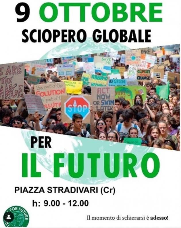 FFF A Cremona il 9 OTTOBRE - SCIOPERO GLOBALE PER IL FUTURO promossa da FridaysForFuture