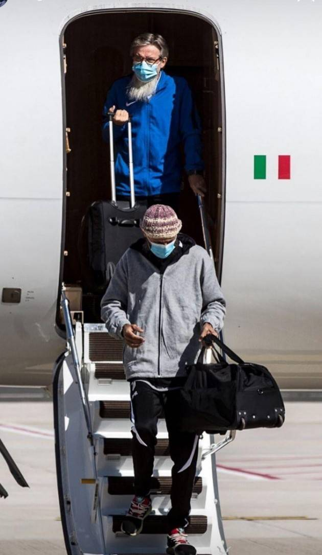 ITALIA- ARRIVATI A ROMA PADRE GIGI E DON NICOLA