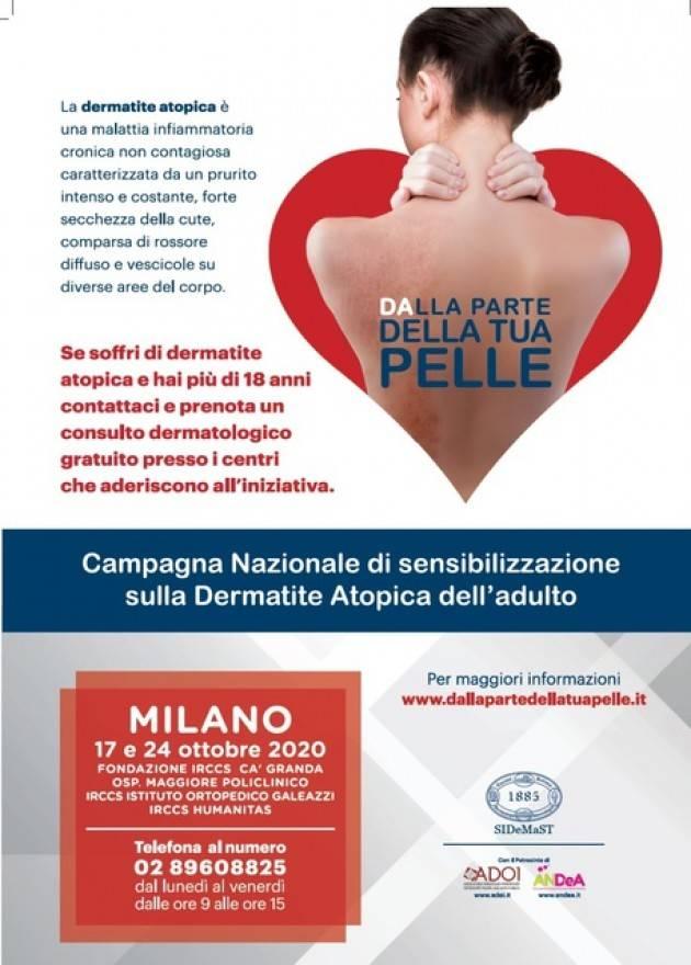 Campagna sulla dermatite A Milano