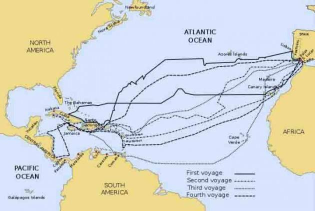 AccaddeOggi 12 ottobre 1492 Il genovese Cristoforo Colombo scopre l'America