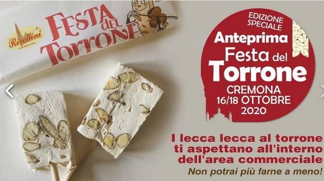 ANTEPRIMA FESTA DEL TORRONE A CREMONA: il programma del weekend. Dal 16 al 18 ottobre