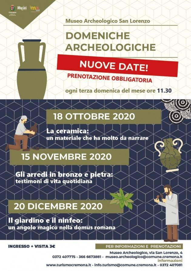 Cremona Domeniche archeologiche, domenica 18 ottobre riprendono le visite guidate