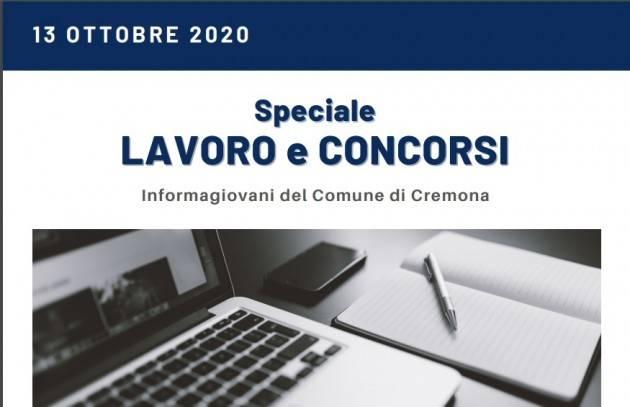Informa Giovani Cremona SPECIALE LAVORO E CONCORSI del 13 ottobre 2020