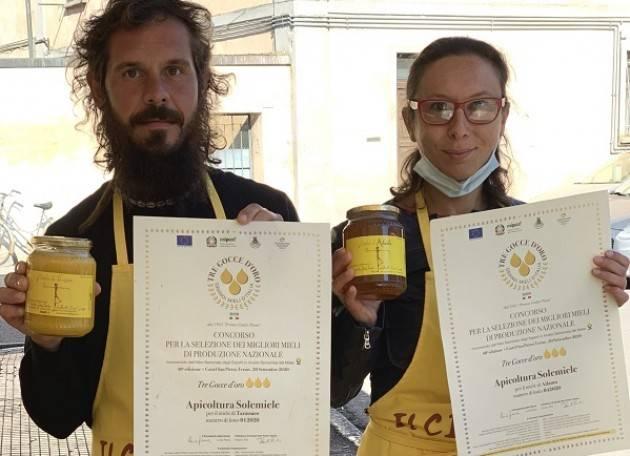 Coldiretti Manuel Manelli, apicoltore da primato Da Crema, 1°classificato con i mieli  al concorso 'Tre gocce d'oro'